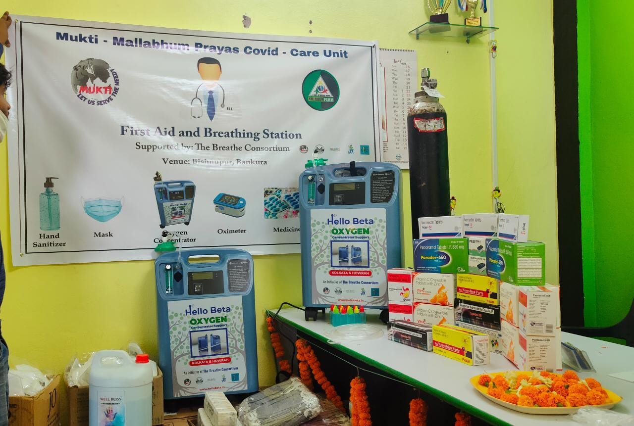 Mukti Provided Two Oxygen Concentrators At Bishnupur, Bankur...