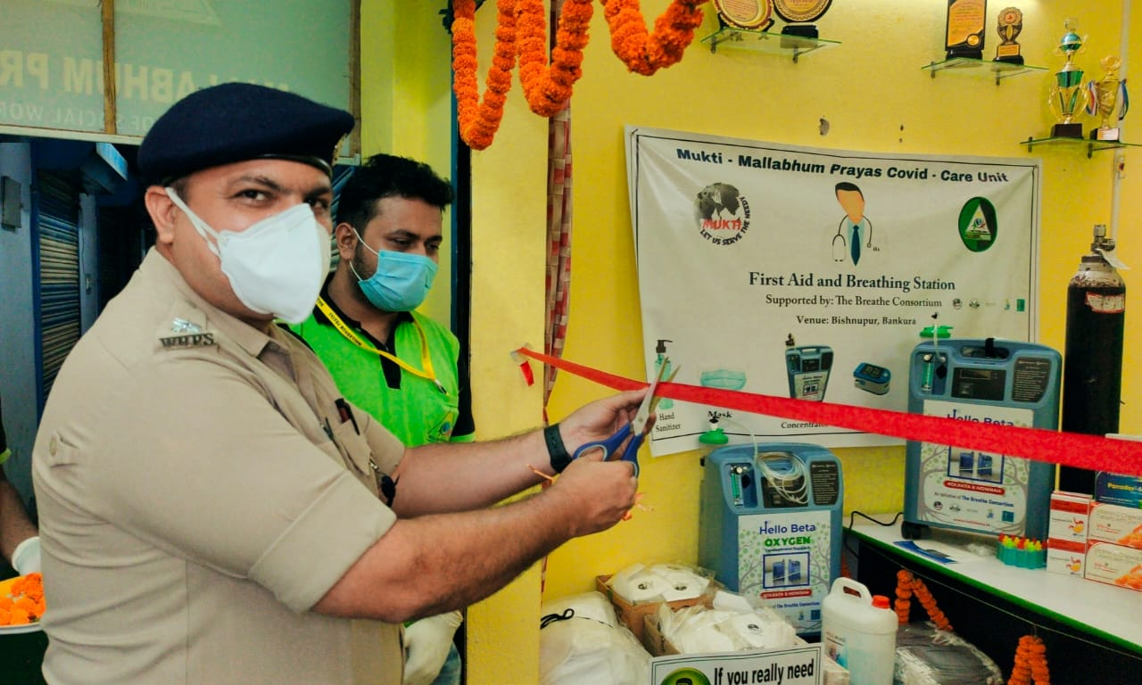 Mukti Provided Two Oxygen Concentrators At Bishnupur, Bankura