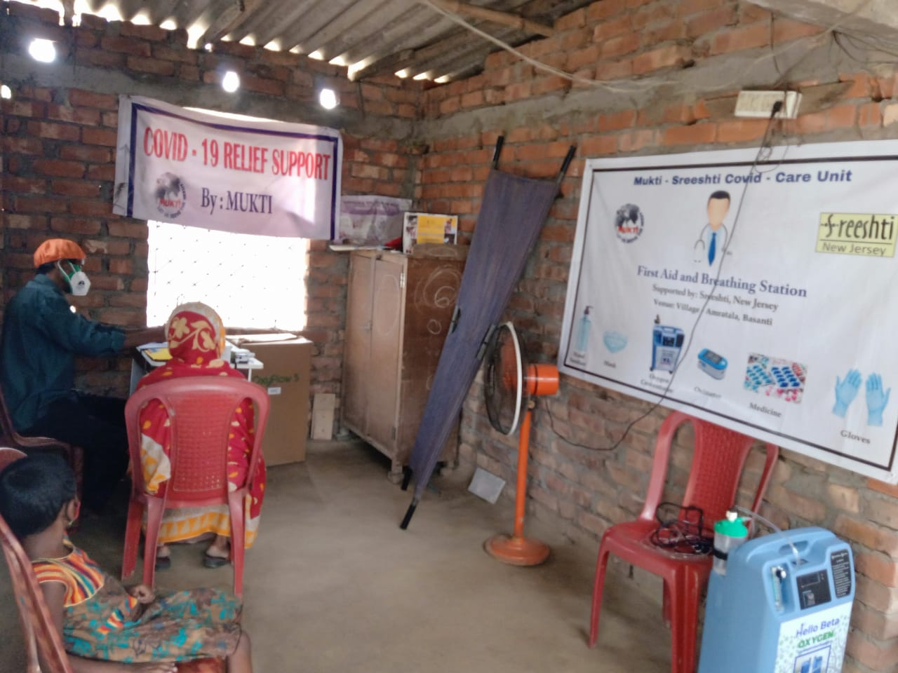 Mukti In Association With Sreeshti Provided Oxygen Concentrator  For The Covid Patients Of Amratala Under Basanti Block