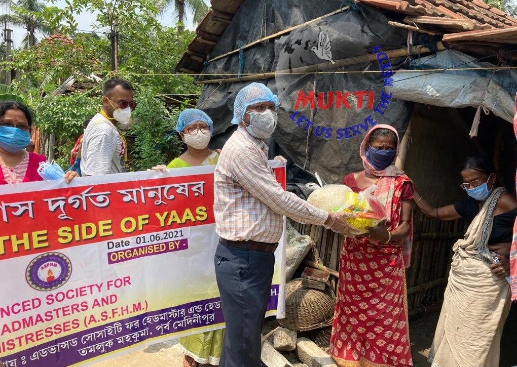 Mukti With Asfhm Supported The Yaas Victims Iwth Dry Food At...