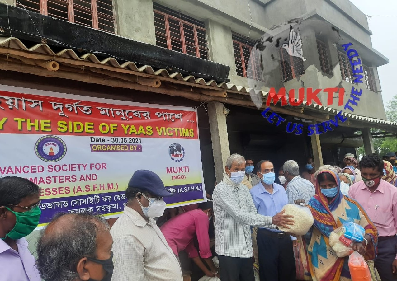 Mukti With Asfhm Distributed Dry Food To The Yaas Victims Of...
