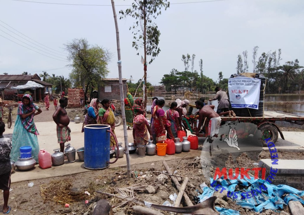 Potable Water Support By Mukti For The Yaas Victims Of Purba...