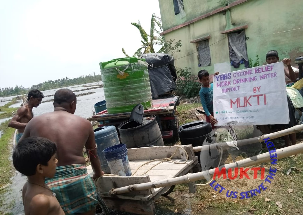 Potable Water Support By Mukti For The Yaas Victims Of Barad...