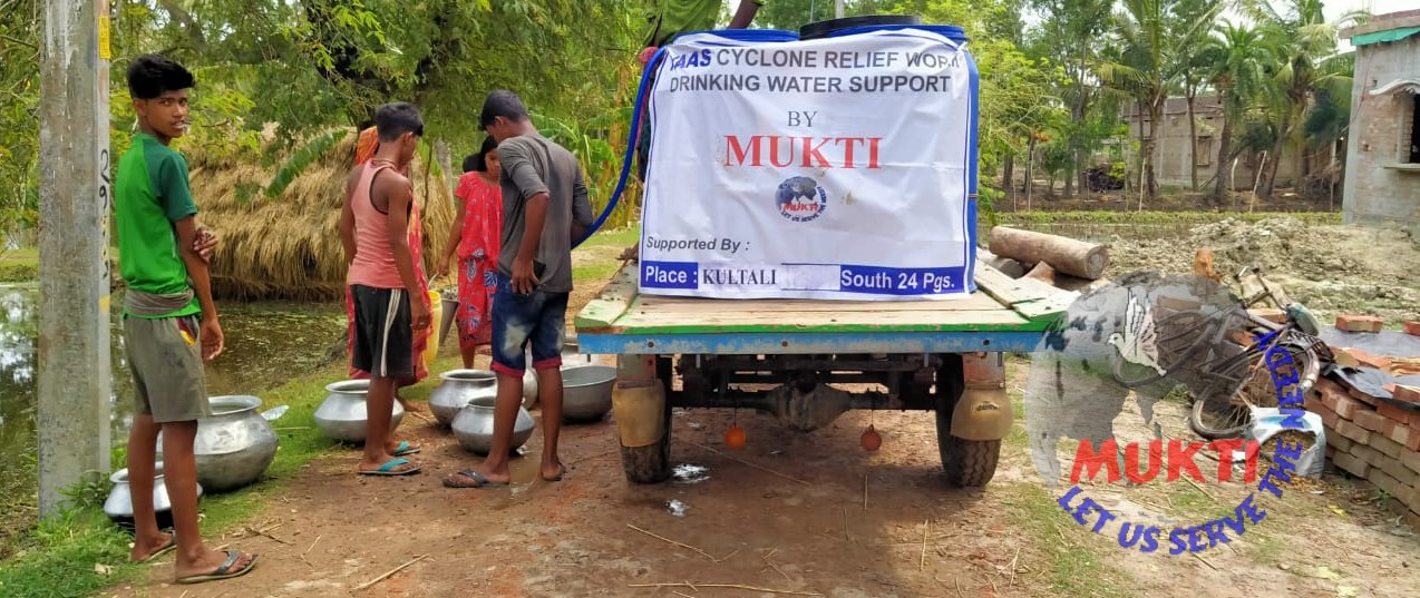 Potable Water Support By Mukti For The Yaas Victims Of Kulta...