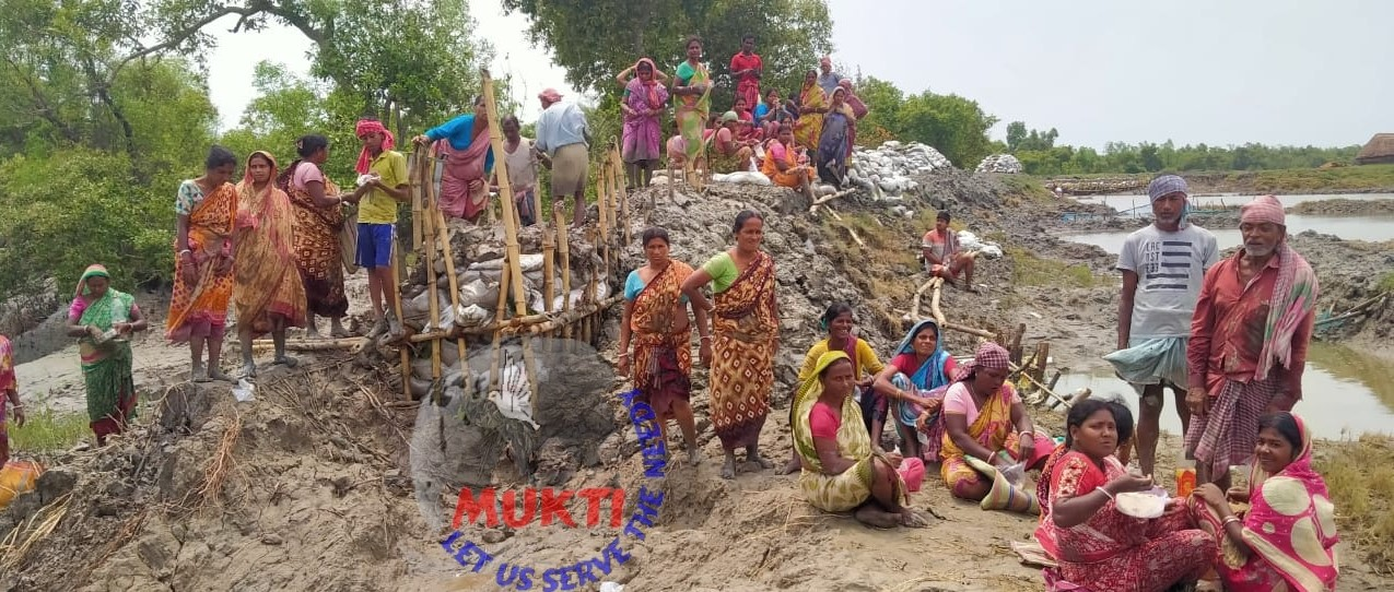 Reconstruction Work Of The River Embankment Is Going On At K...