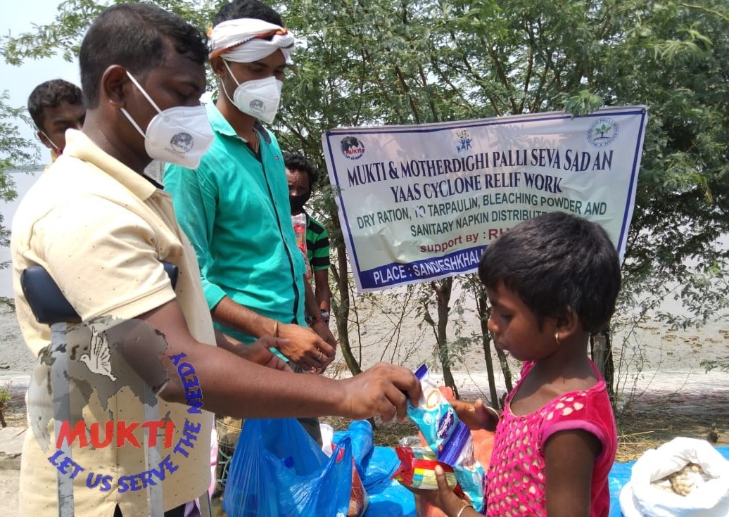 Mukti Distributed Milk And Biscuit To The Yaas Victims Of At...