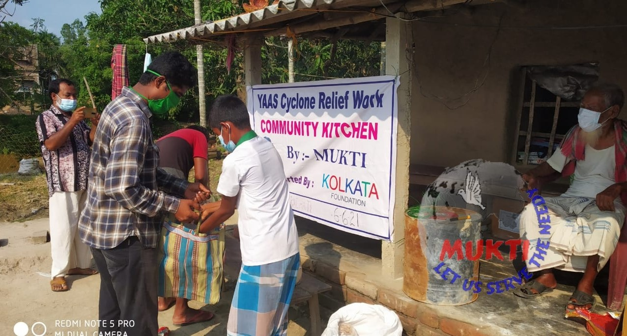 Mukti Distributed Dry Ration To The Yaas Victims Of Dubachot...