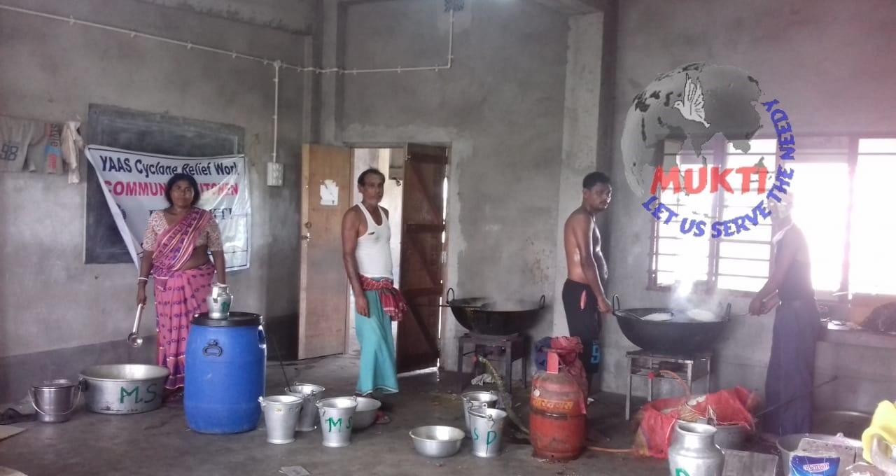 Mukti Community Kitchen At Budhakhali Gp Under Namkhana Bloc...