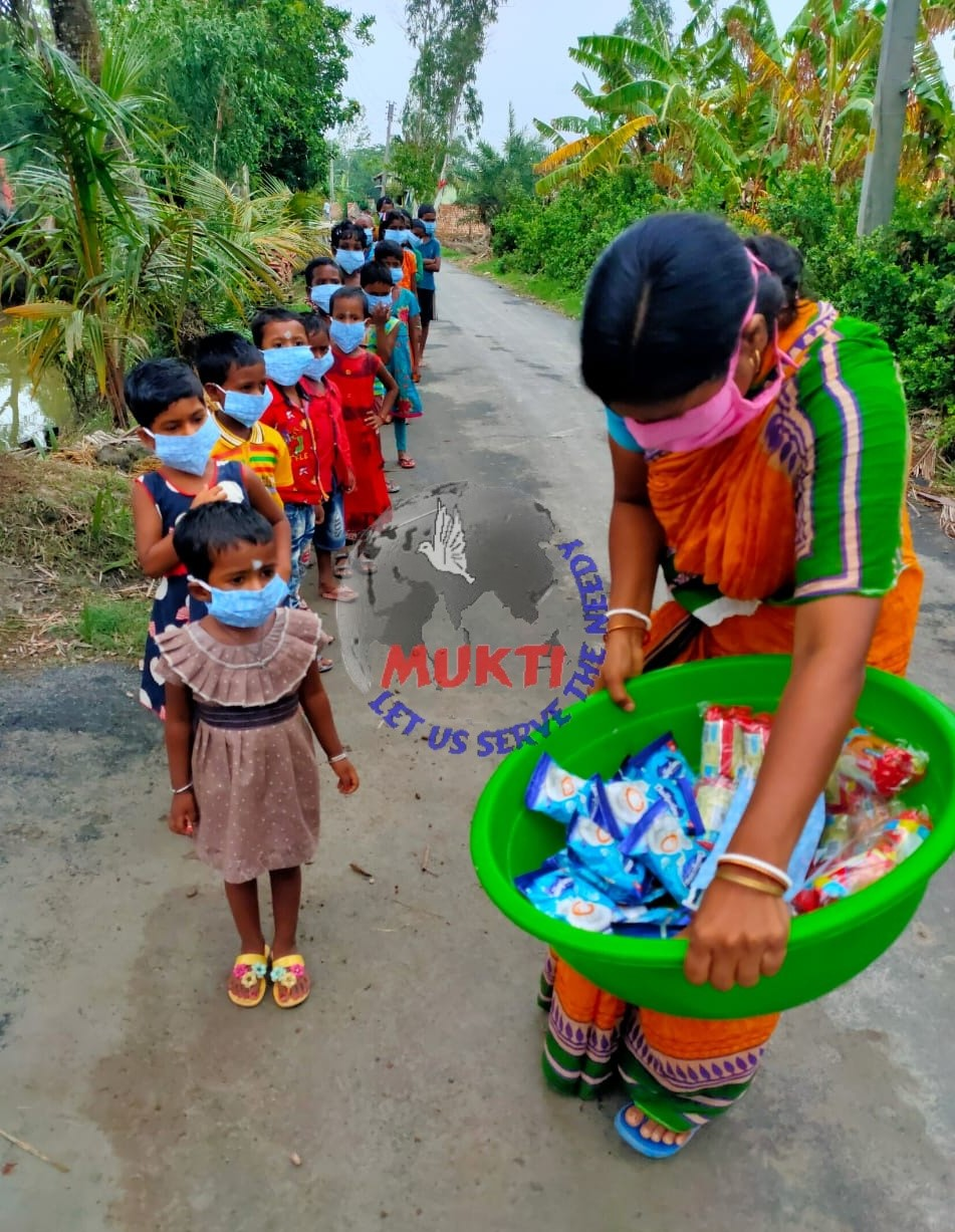 Mukti Distributed Milk and Biscuit Packets to the Yaas Affec...