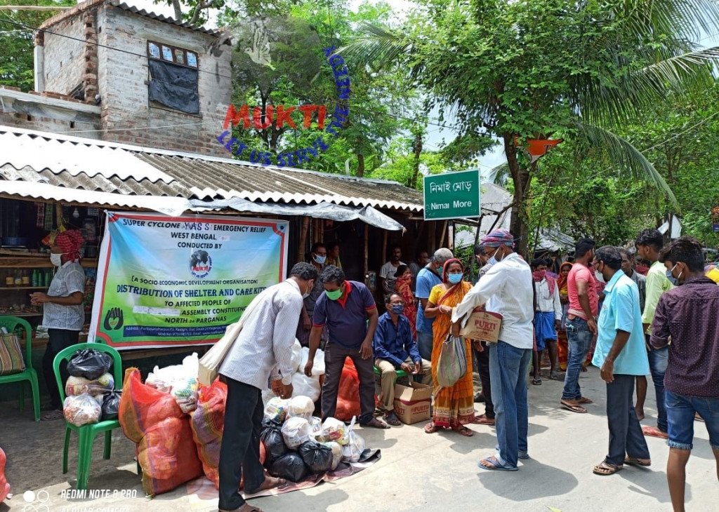 Mukti Distributed Dry Ration To The Yaas Affected People At ...