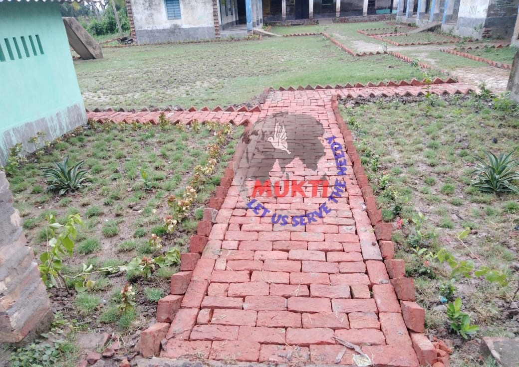 Mukti Is Beautifying The School Compounds Of Mukti Gram