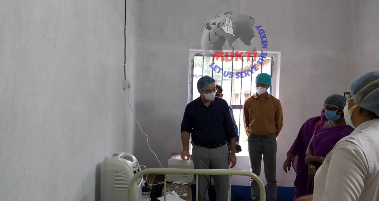 Mukti In Association With Asfhm Inaugurated Oxygen Parlor On 19th June At Kelomal Santoshi High School , Tamluk