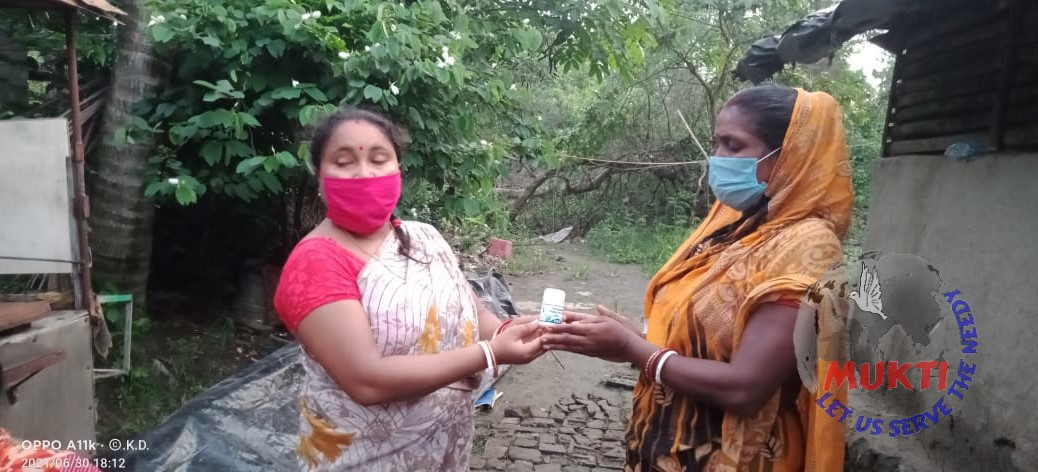 Mukti Distributed Halazone Tablets To The Yaas Affected Fami...