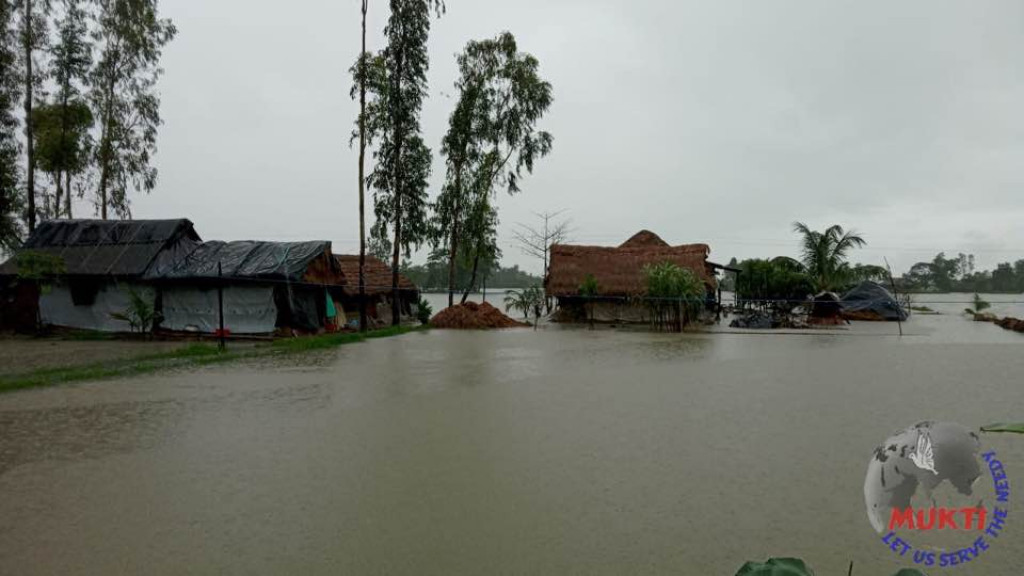 The Heavy Rain Caused By The Depression Flooded The Villages...