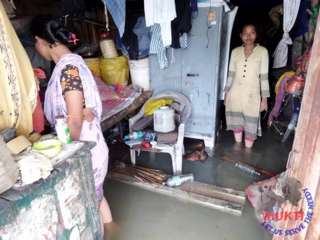 The Heavy Rain Caused By The Depression Flooded The Houses O...