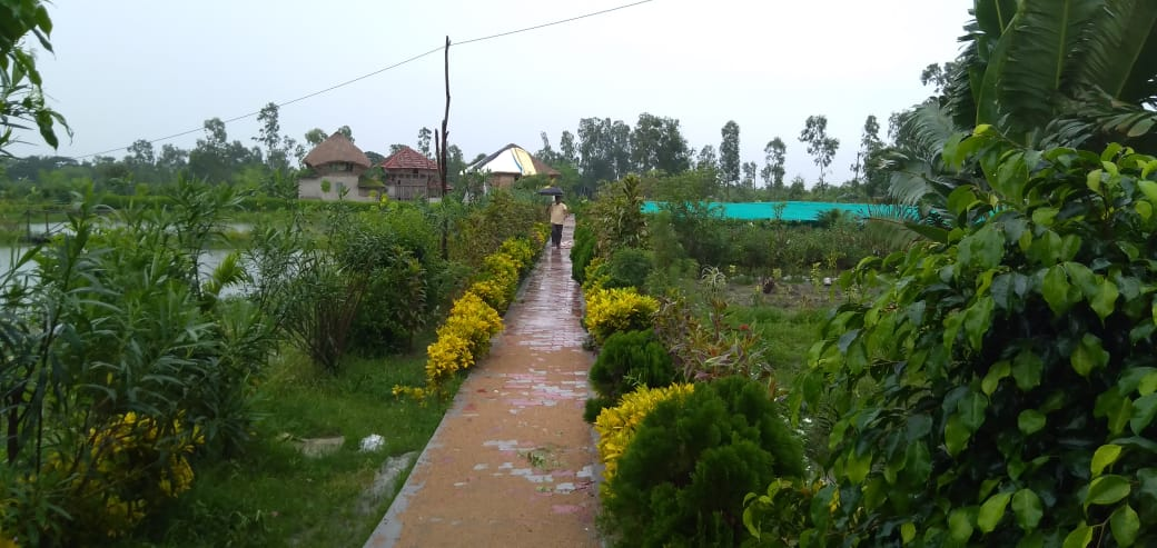 Mukti Is Constructing The Road Leading To Mukti Sam Office With Paver Blocks