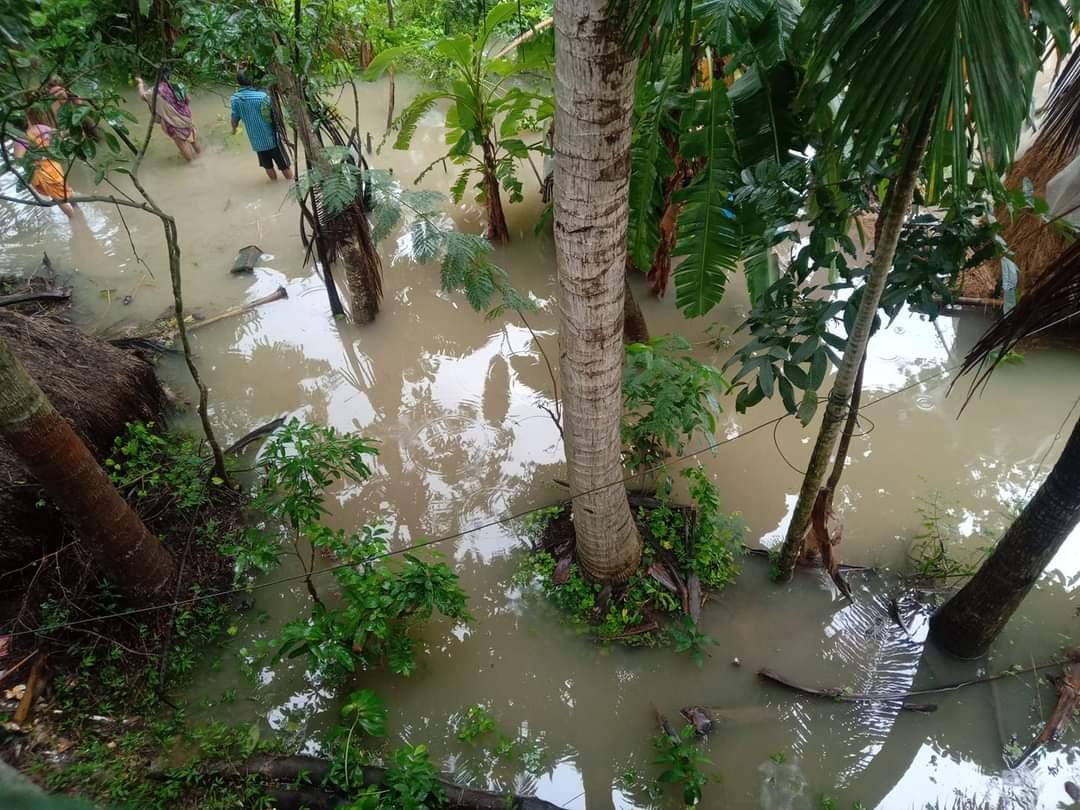Heavy Rain Caused Flooding At Purba Medinipur
