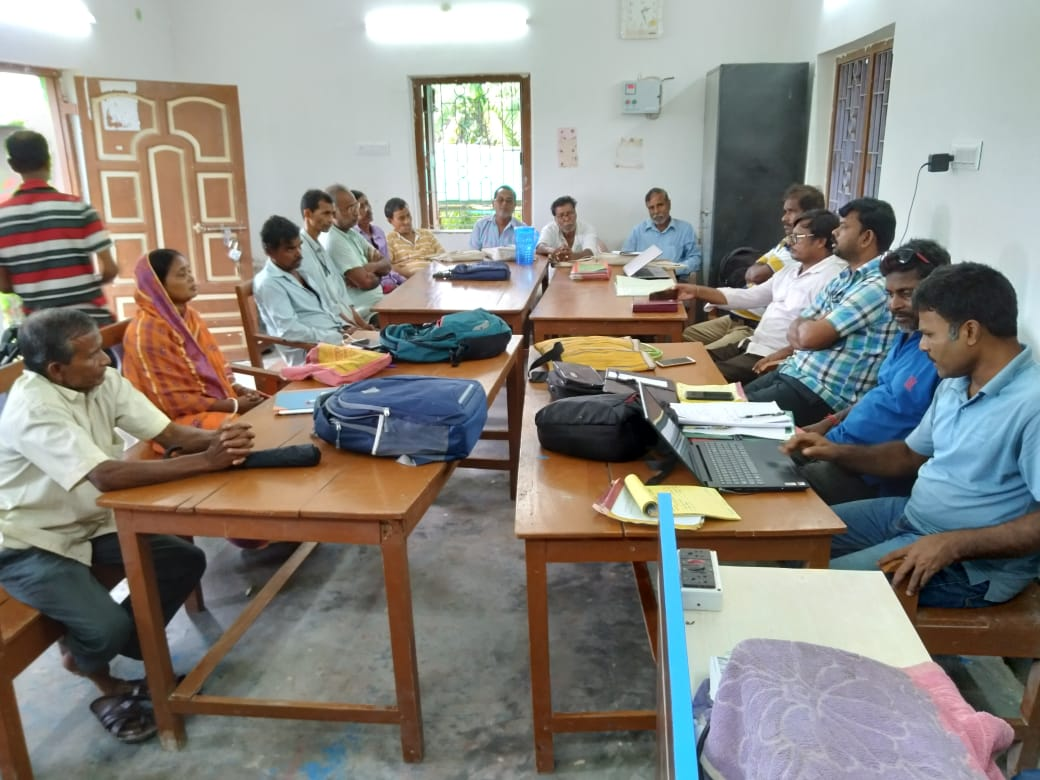 Mukti Organised A Meeting With The Villagers Interested In Making Their Houses Like The Model Houses  At Mukti Library Office