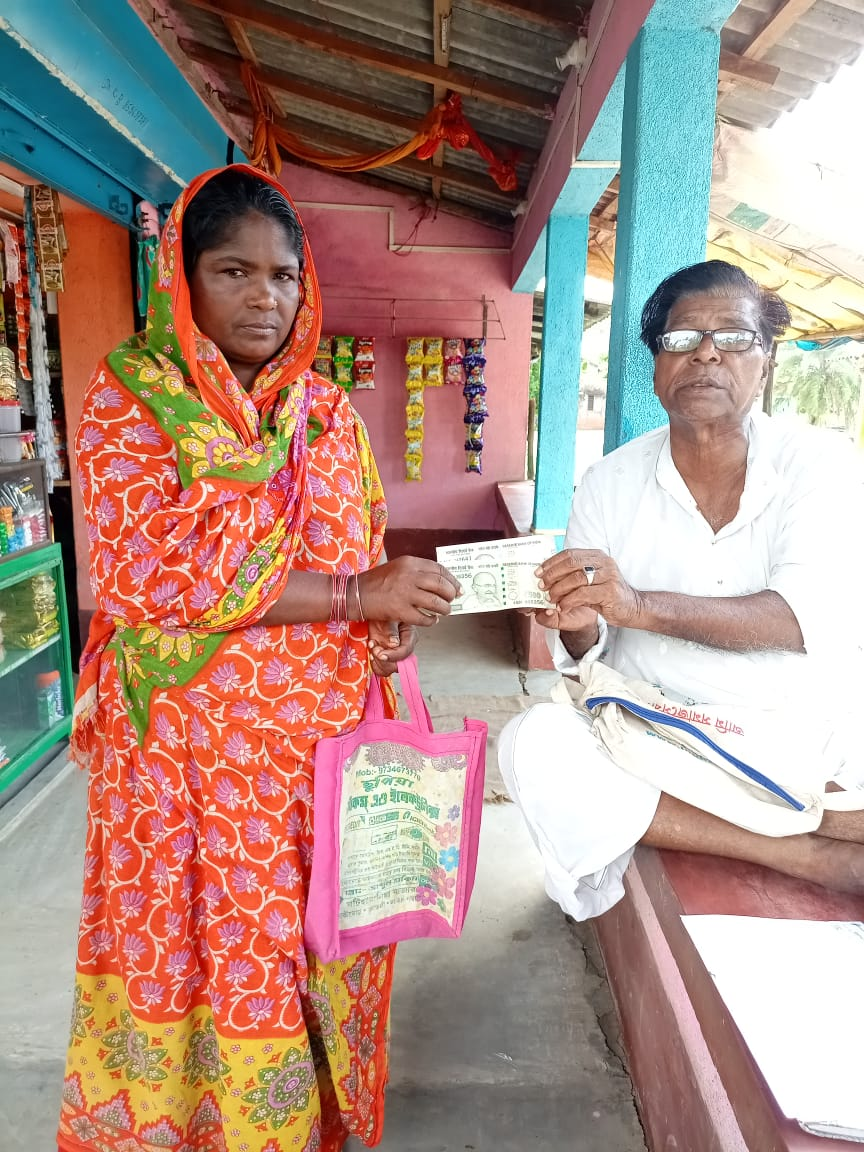 Villagers Of Nagendrapur And Kankandighi Gp Received Payment...
