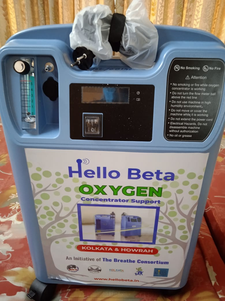 Mukti Supported SBI with Two Oxygen Concentrators