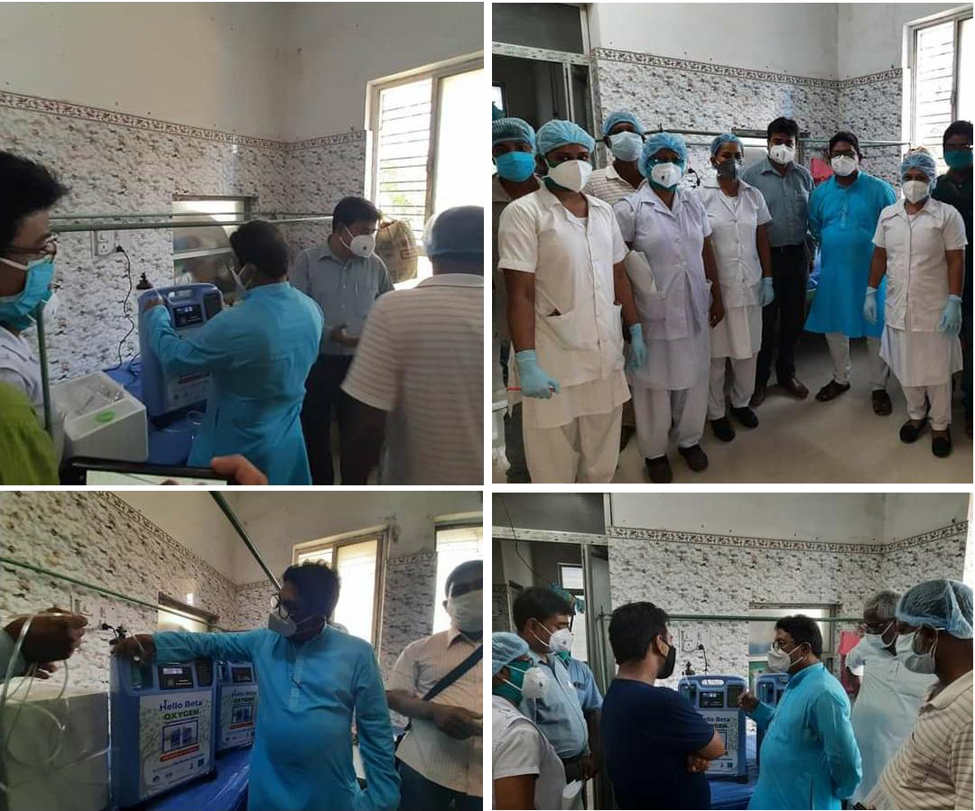 Mukti Provided Oxygen Concentrators to Raidighi Hospital
