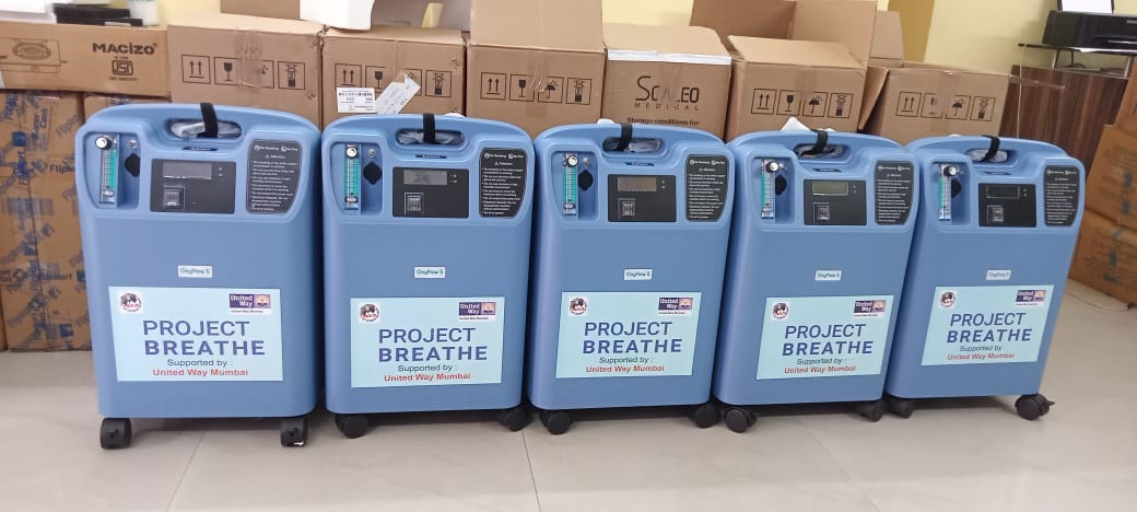 """""""United Way Mumbai"""" Supported Mukti with 15 Oxygen Concentrators"""