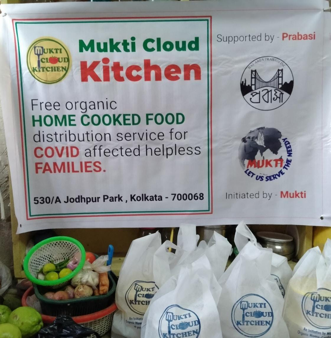 Mukti Cloud Kitchen Feeding Isolated Covid Patients