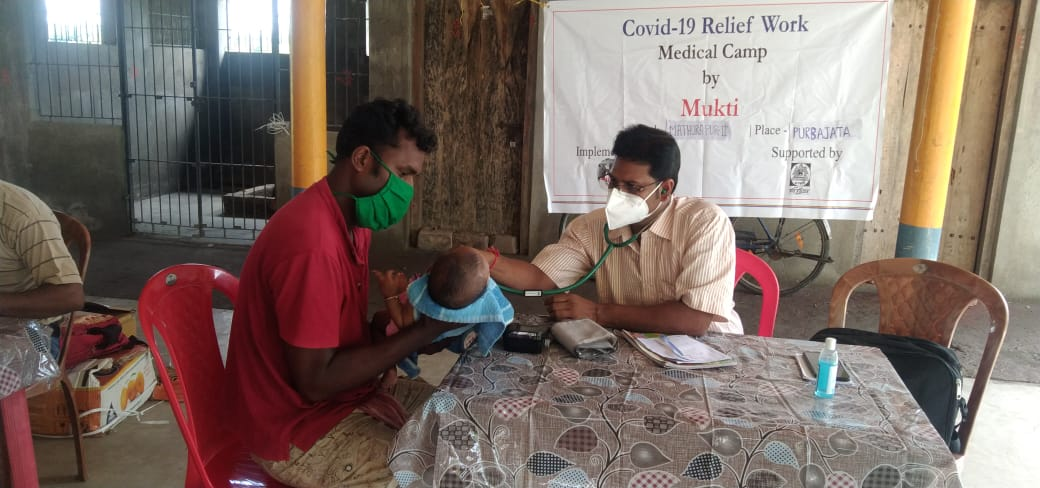 Bichitra Supported Mukti for Organizing Free Medical Camps for Underprivileged Covid Patients